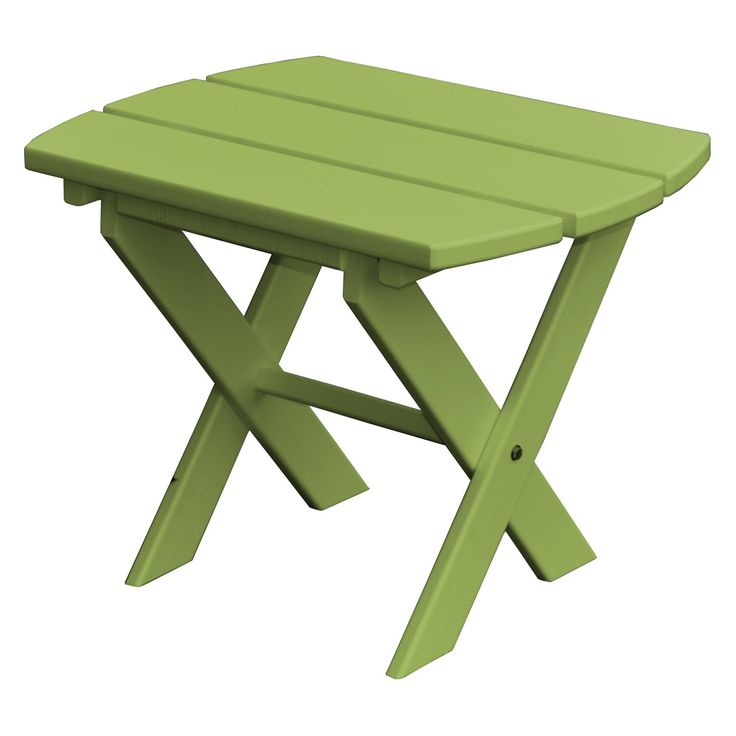 Outdoor Radionic Hi Tech Newport Recycled Plastic Folding Patio End Table White