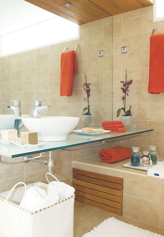 112 mejores im genes sobre house bathroom ba o en - Cubrir azulejos bano ...