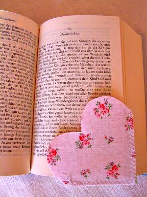 ein süßes Lesezeichen, auch für Stoffreste geeignet