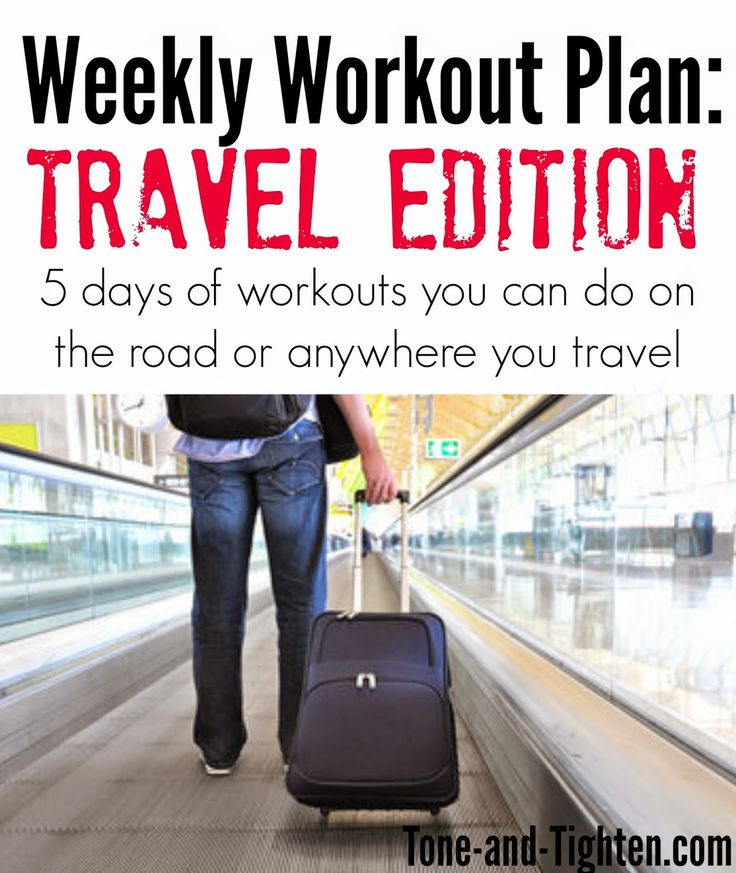 5 great workouts you can do in the hotel, on the beach, at the campsite, or just about anywhere you're headed! From Tone-and-Tighten.com