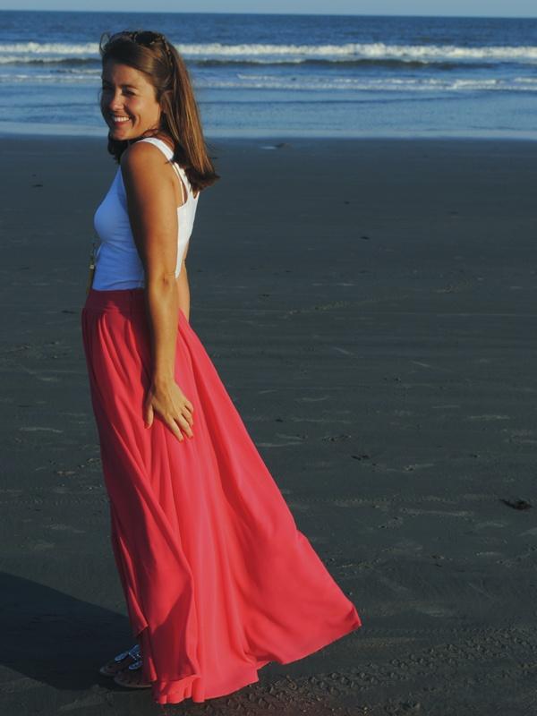 my style - a beachy maxi skirt