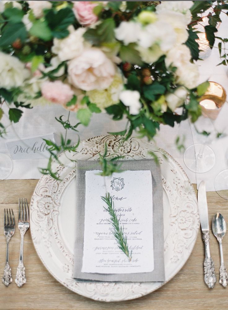 Read More: http://www.stylemepretty.com/2014/12/04/intimate-summer-wedding-at-san-ysidro-ranch/