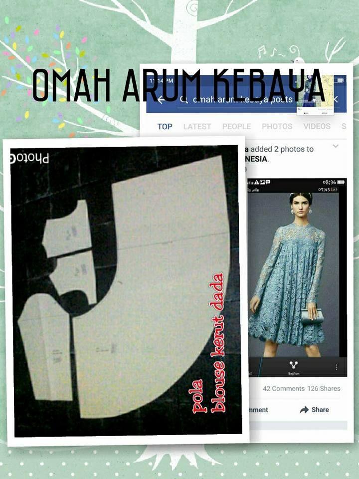 blouse kerut dada pattern