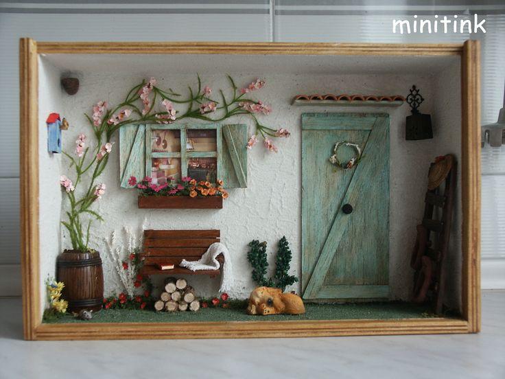 The Green Door, a diorama