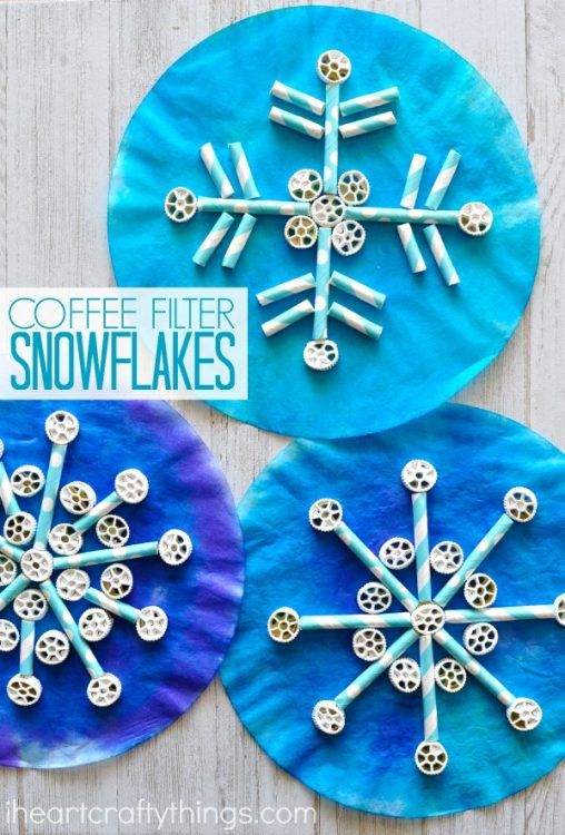 coffee-filter-snowflake-craft