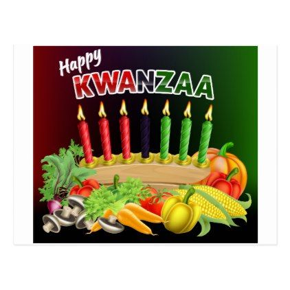 Happy Kwanzaa Sign Postcard - postcard post card postcards unique diy cyo customize personalize