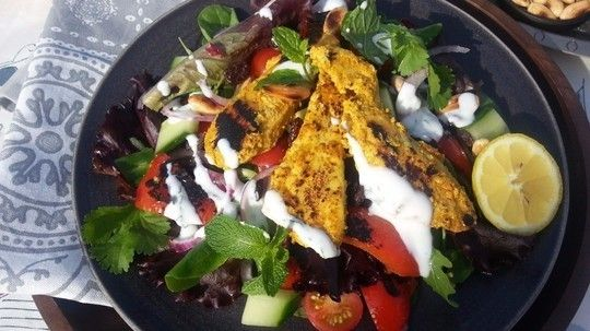 Sally Bee's warm chicken tikka salad