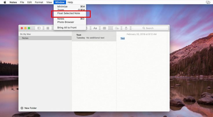 How To Pin A Note To The Top In macOS