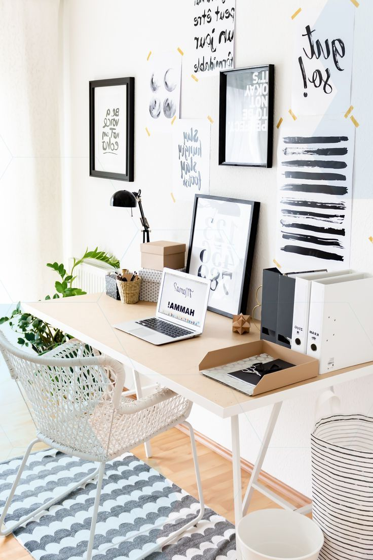 Working In The Home Office Setting Up A Scandinavian Small Study Ideas For Office Furniture Set Kmart Home Home Decor