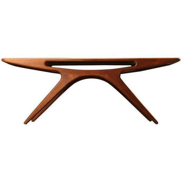 1950s Johannes Andersen The Smile Coffee Table In Teak By Cfc Silkeborg Vardagsrum Kok