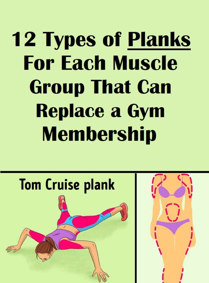 12 types of planks for each muscle group that can replace