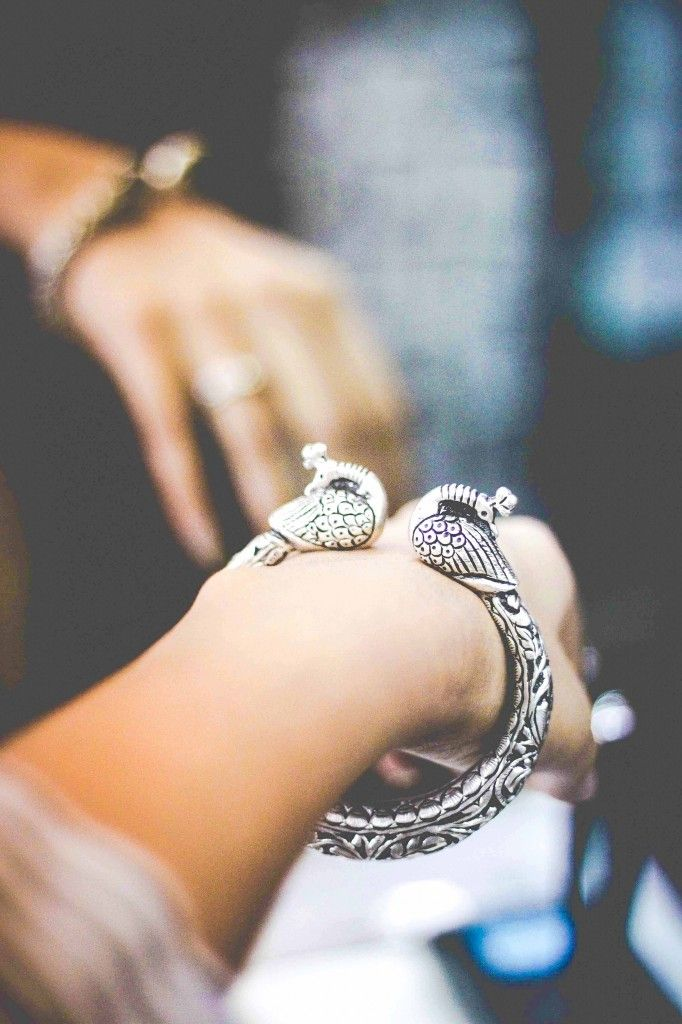 Silver peacock  Bangle India | Style Inked;   Commercial Street Bangalore