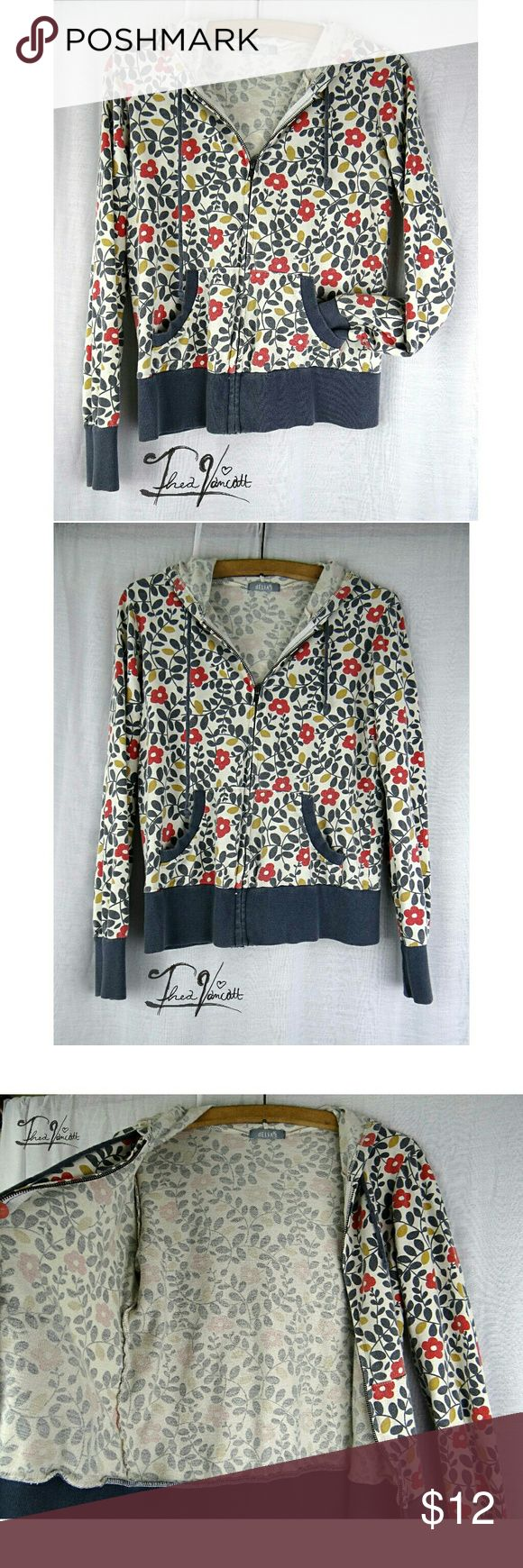 DELIAS - Floral Hoodie DELIAS Floral hoodie lightweight fabric. **Please note this item is not from Urban outfitters, the actual brand wasn't listed.*** Happy POSHing friends!! <3 Urban Outfitters Tops Sweatshirts & Hoodies