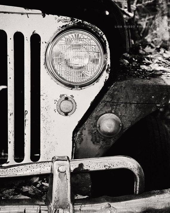 Vintage Car Art Jeep Picture Jeep Photography by LisaRussoFineArt
