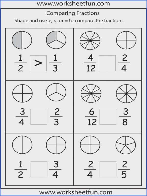 Introduction To Fractions Worksheets Paring Worksheet Elegant Paring 3rd Grade Math Sc In 2020 Fractions Worksheets 2nd Grade Math Worksheets Math Fractions Worksheets
