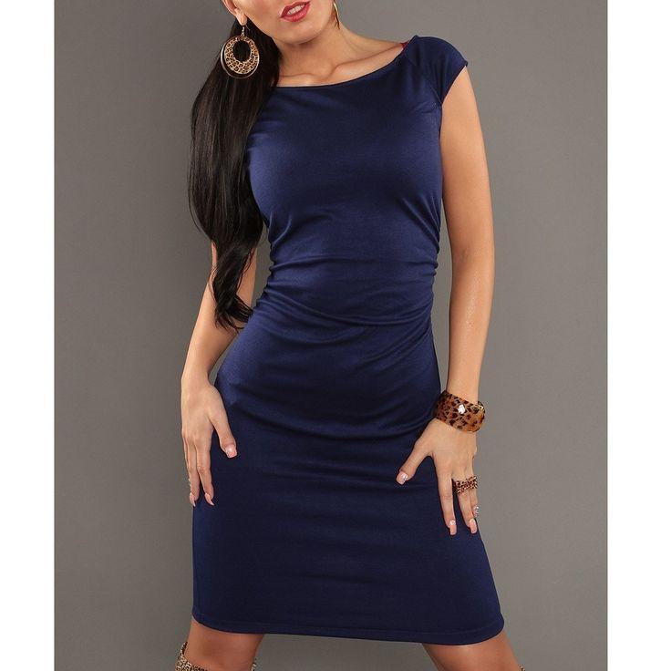 Klasické elegantné šaty IN-50072 - rôzne farby