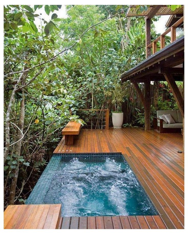 Cozy Modern Outdoor Bathtub Design Ideas 5 | Bathtub ...