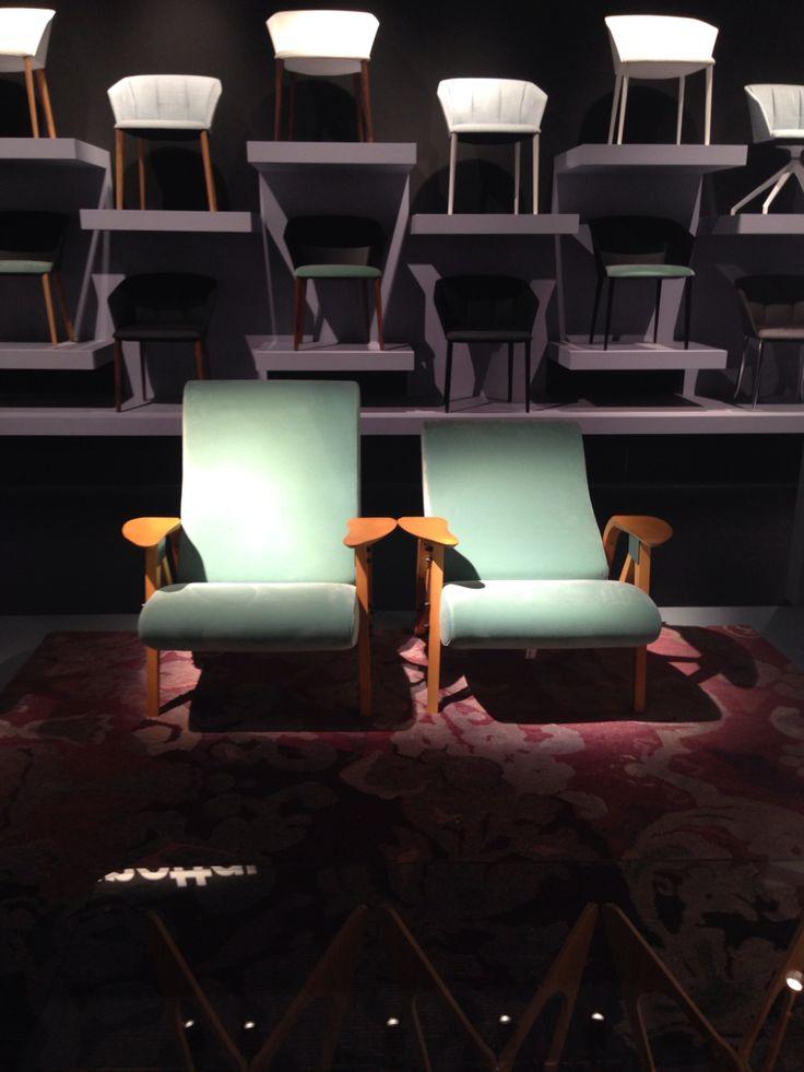 Zanotta chairs in mint <3 #MilanoDesignWeek