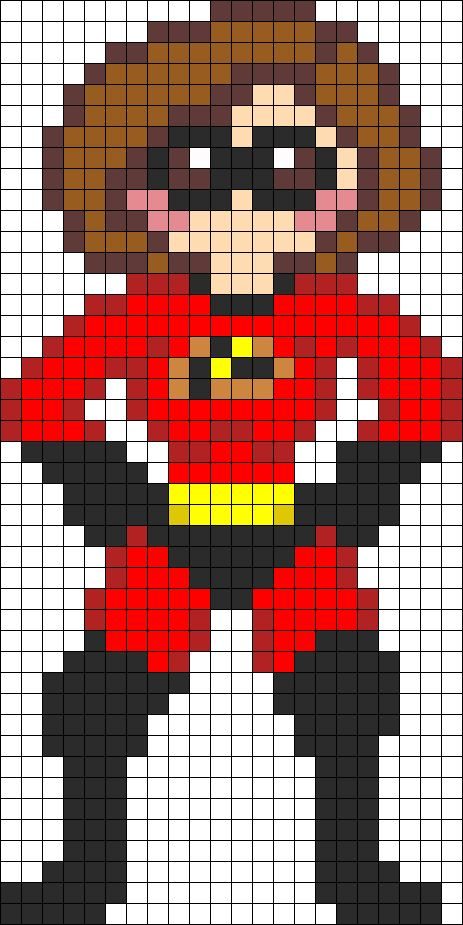 Mrs Incredible perler bead pattern   ...........click here to find out more     http://googydog.com