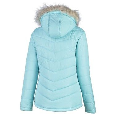 Cape Women's Betty Fur Trim Insulated Jacket Mint 14