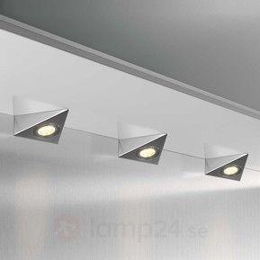 Trekantig LED-bänklampa DHL C, 3dels-set