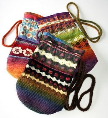 knit+ fabric bags