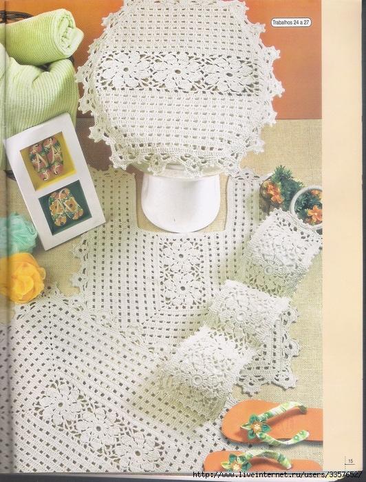 Jogo de Banheiro em Croche | Receitas de Croche