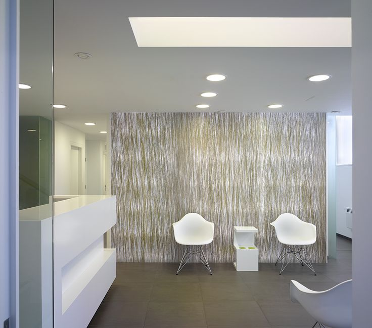 Sandford Dental Clinic UK Richard Mitzman Architects 3form Varia Bear Grass Partitions DesignHealthcare