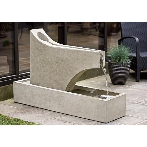 Precipice Garden Fountain: Cast Stones, Precip Fountain, Gardens Fountain, Gardens Water Features, Campania International, Water Wall, Outdoor Fountain, Stones Patio, Precip Gardens