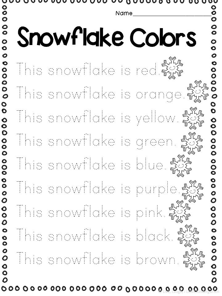 Winter Color Word Worksheet First Grade Sight Words Free Preschool Worksheets Kindergarten Resources Kindergarten color words worksheets