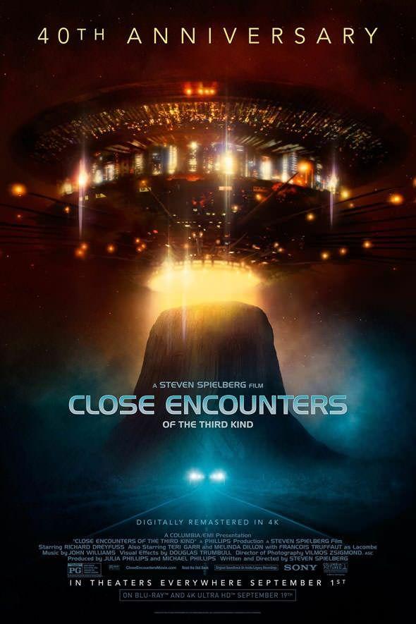 No dia 1º de setembro, o clássico moderno da ficção científica Contatos Imediatos do Terceiro Grau será relançado nos cinemas norte-americanos (e ainda no mesmo mês em Blu-ray e UHD-BD 4K) para com…