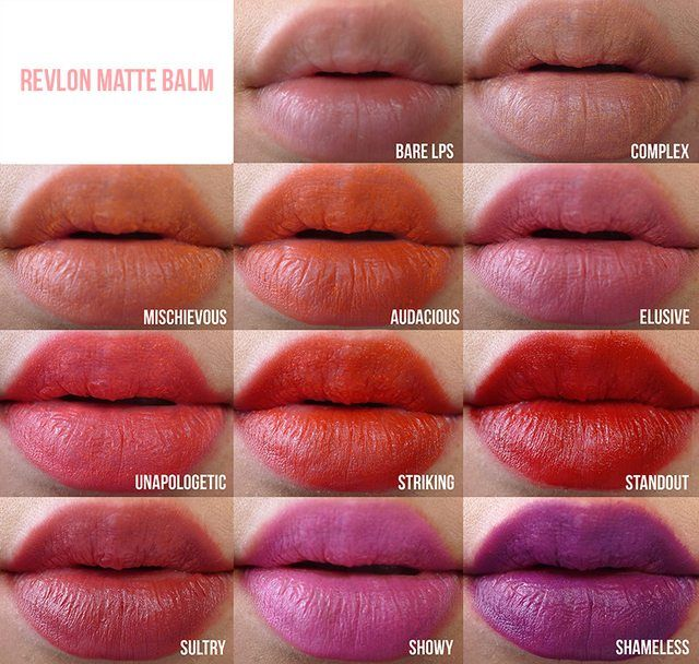 Lip swatches of all the Revlon Matte Balms - Imgur