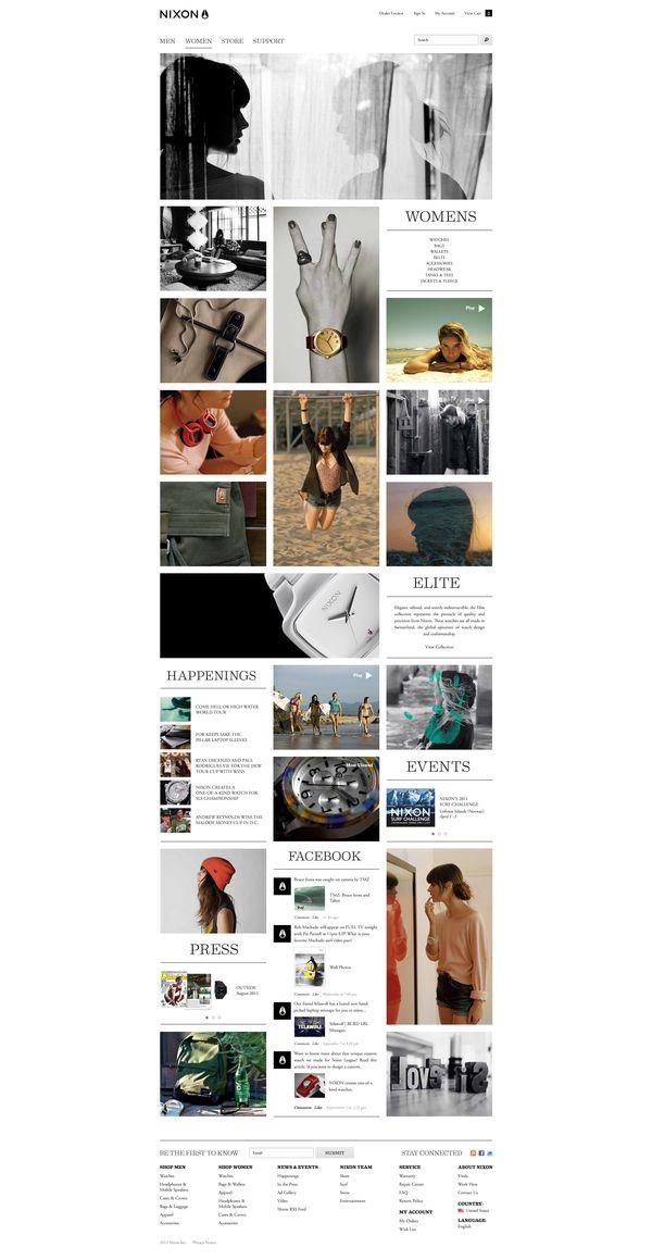 NIXON.com by Dann Petty, via Behance