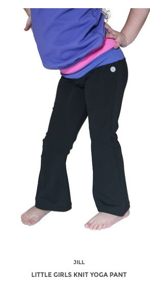 Little Girls Knit Yoga Pant www.jillyoga.com