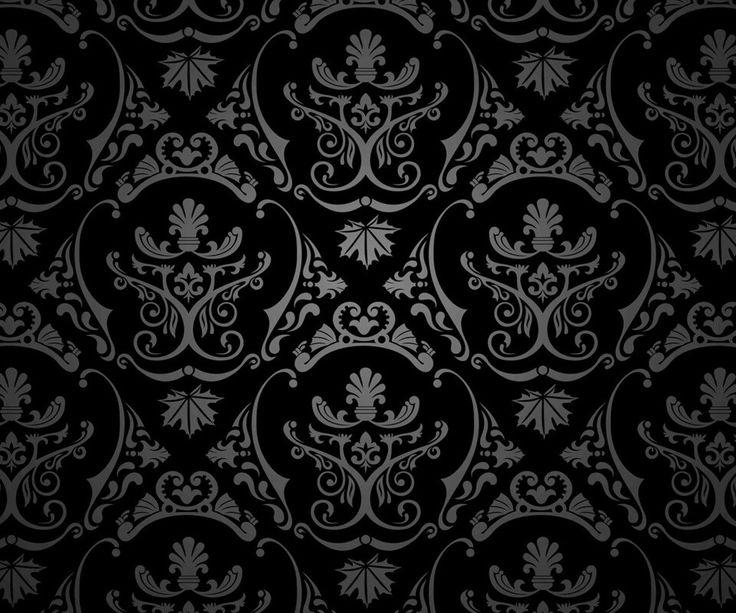 Damask Black / Silver ·°·TEXTURES & PATTERNS
