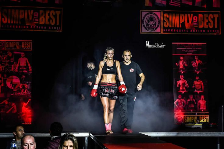 Ashley Gilson of Belgium partakes in 8-woman kickboxing tournament Girl Power 3 on Friday, June 23, 2017 live on SFR Sport 5.