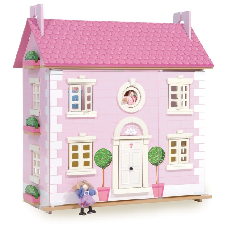 Gorgeous three story dolls house that is guaranteed to provide your toys with a life of luxury. Both the interior and exterior are brightly coloured and prettily decorated, with doors and windows that can open and close at your will.