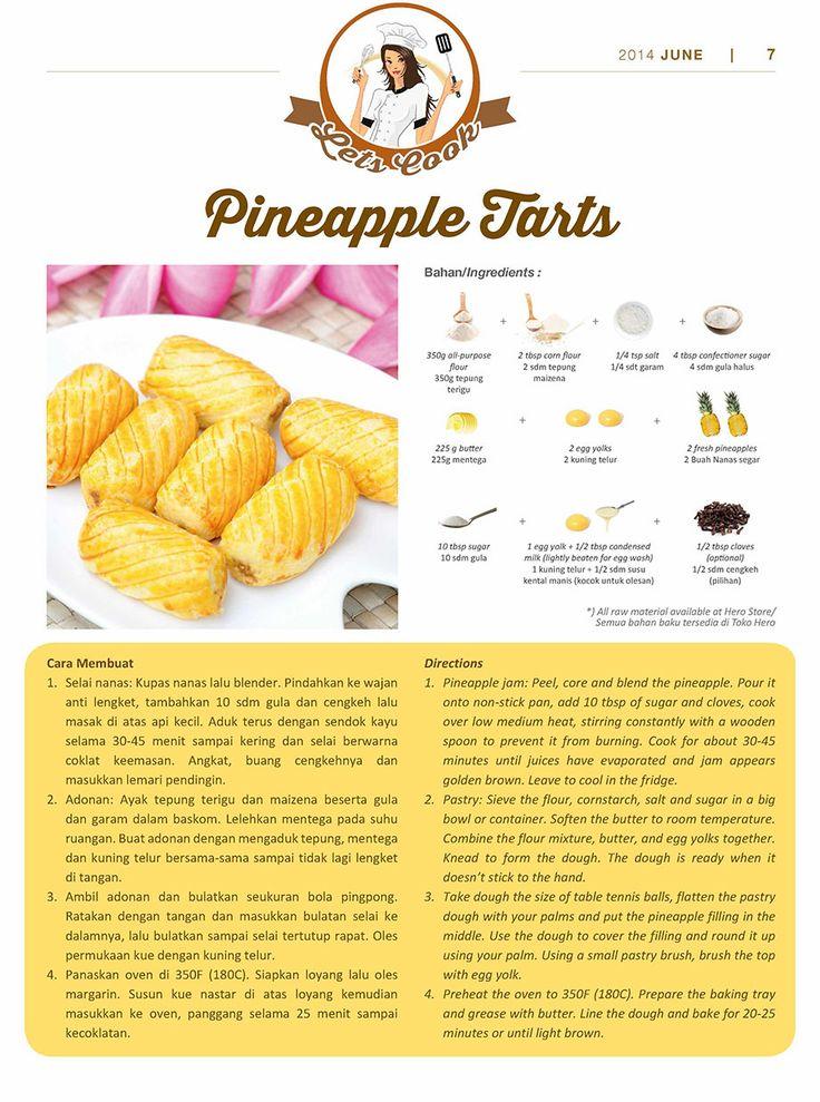 Akhir pekan akan semakin berwarna apabila Fresh People menyajikan makanan yang lezat.  Jika masih bingung, #HeroRecipe Pineapple Tarts ini dapat menjadi kudapan lezat untuk menemani santai bersama keluarga di rumah.