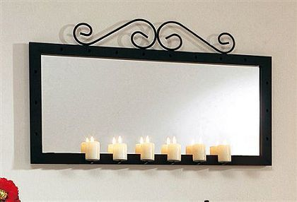 OTTO:Mooie romantische spiegel met zes kaarsen