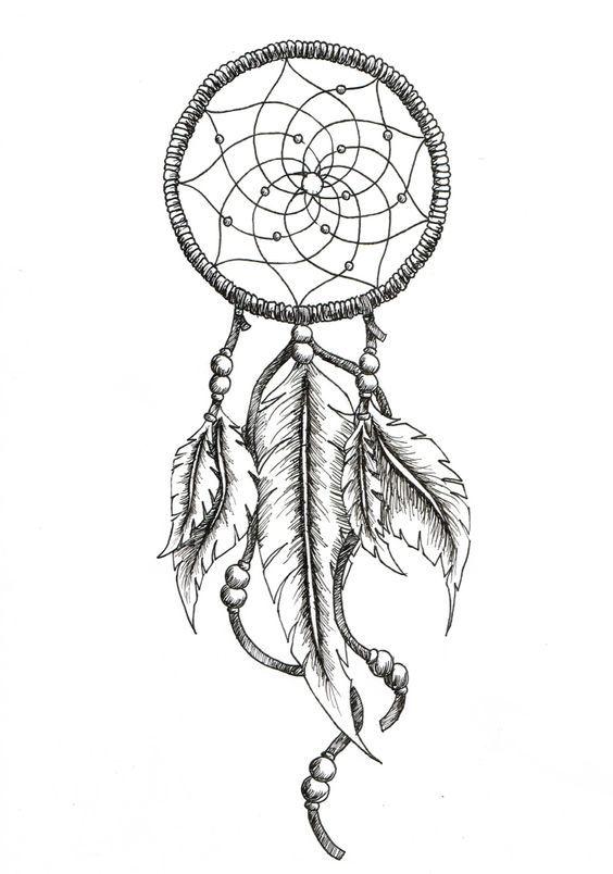 dream catcher tattoo drawing