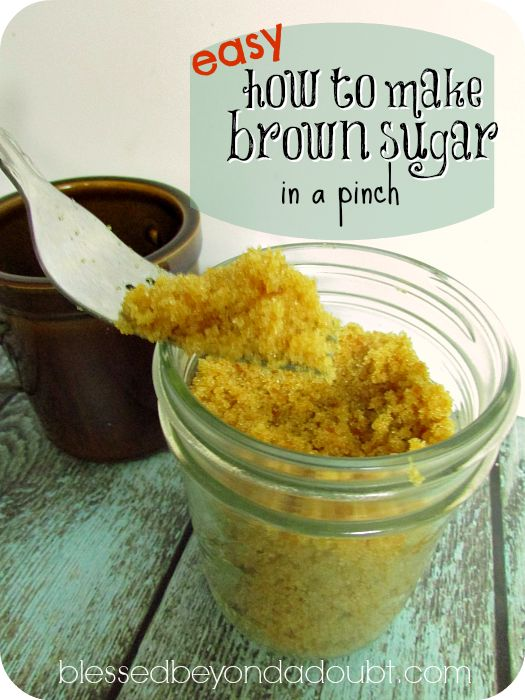 Great tip to remember on how to make brown sugar!