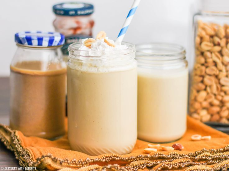 High Protein Smoothies without Protein Powder = Peanut Flour, Cottage Cheese, Greek Yogurt + Almond Butter, Silken Tofu, Soy milk + oats + peanut butter