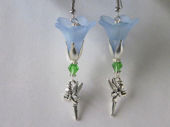 Fairy Earrings Fairy Jewelry Garden Fairy Dangle Earrings