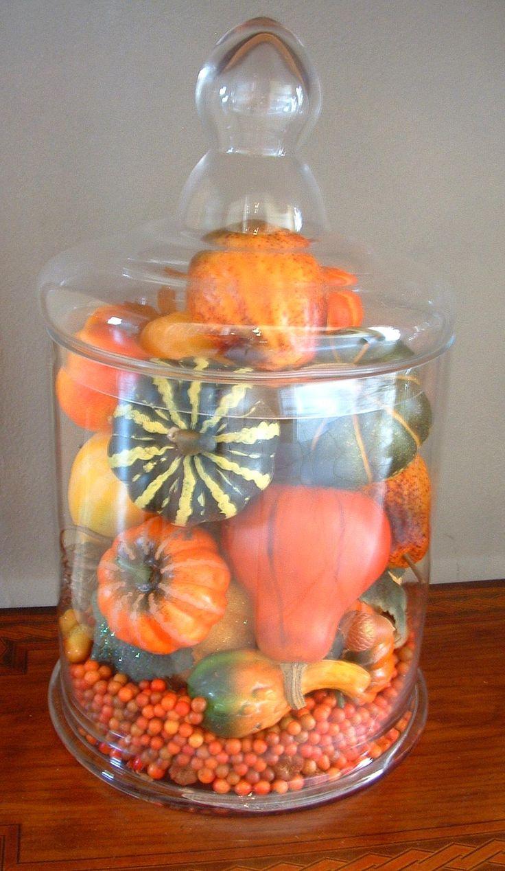 Gourd filled jar