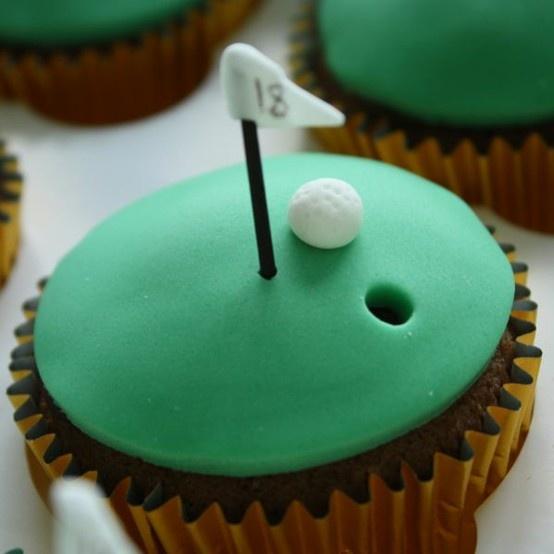 @KatieSheaDesign ♡❤  ❤♡ ♥ ❥Golf cupcake