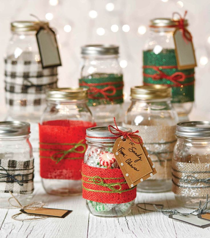 How To Make Embellished Canning Gift Ball Jars Diy Christmas CraftsChristmas
