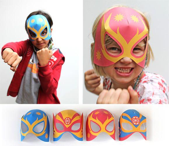 Máscaras para Halloween: mascara lucha libre papel