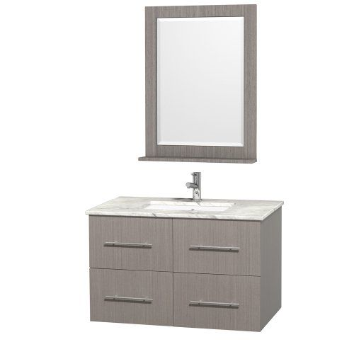 Picture Gallery Website Special Offers Wyndham Collection Centra inch Single Bathroom Vanity in Grey Oak with White