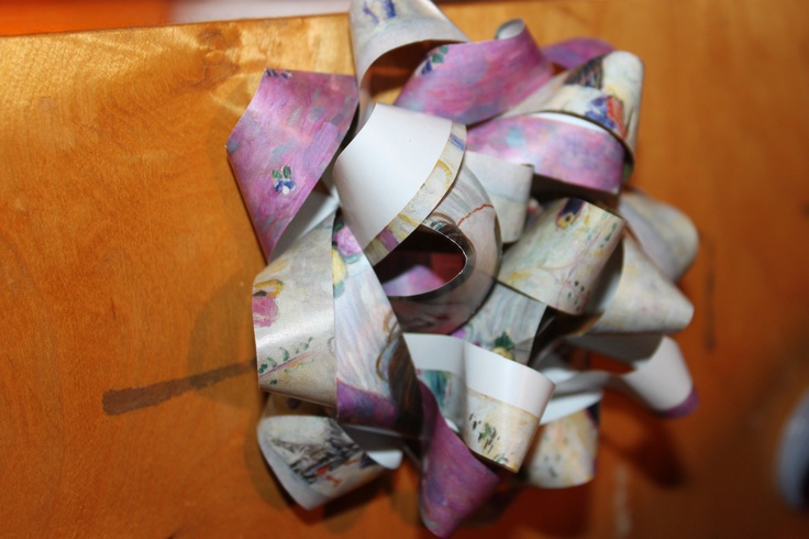 Bow made of Wrapping Paper