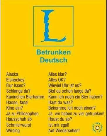 Betrunken - deutsch